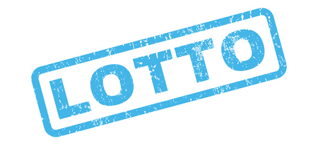 lotto: Lotto text rubber seal stamp watermark. Tag inside rectangular shape with grunge design and unclean texture. Slanted vector blue ink emblem on a white background.
