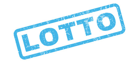 lotto: Lotto text rubber seal stamp watermark. Caption inside rectangular shape with grunge design and dirty texture. Slanted glyph blue ink emblem on a white background. Stock Photo