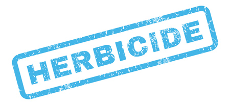 herbicide: Herbicide text rubber seal stamp watermark. Tag inside rectangular shape with grunge design and dirty texture. Slanted vector blue ink emblem on a white background.