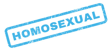 homosexual: Homosexual text rubber seal stamp watermark. Caption inside rectangular shape with grunge design and unclean texture. Slanted vector blue ink sticker on a white background.