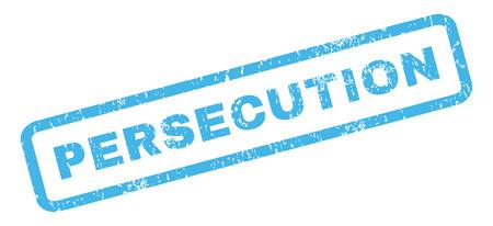 Verfolgung Text Gummidichtung Stempel Wasserzeichen. Beschriftung in rechteckigen Banner mit Grunge-Design und Staub Textur. Slanted Glyphe blaue Tinte Zeichen auf einem weißen Hintergrund.