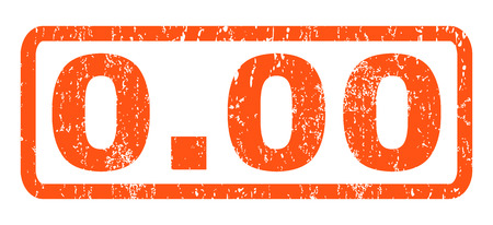 0.00 text rubber seal stamp watermark. Caption inside rectangular shape with grunge design and dust texture. Horizontal vector orange ink sticker on a white background.