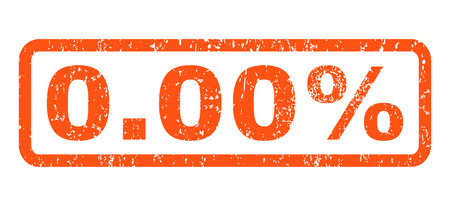 nil: 0.00 Percent text rubber seal stamp watermark. Caption inside rectangular shape with grunge design and dirty texture. Horizontal glyph orange ink sign on a white background.