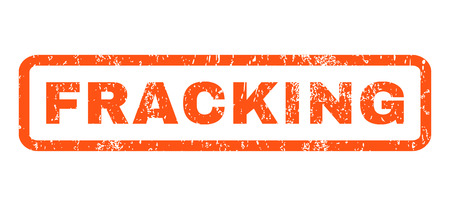 fracking: Fracking text rubber seal stamp watermark. Caption inside rectangular shape with grunge design and unclean texture. Horizontal glyph orange ink sign on a white background.
