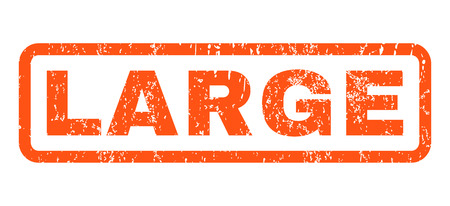 massive: Large text rubber seal stamp watermark. Caption inside rounded rectangular shape with grunge design and dust texture. Horizontal glyph orange ink sticker on a white background.
