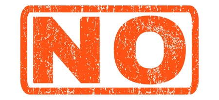 No text rubber seal stamp watermark. Caption inside rounded rectangular banner with grunge design and scratched texture. Horizontal glyph orange ink sign on a white background.