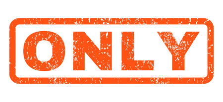 Only text rubber seal stamp watermark. Caption inside rounded rectangular banner with grunge design and unclean texture. Horizontal glyph orange ink sign on a white background.