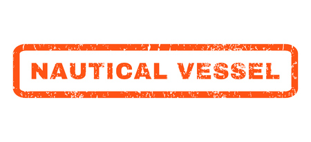 nautical vessel: Nautical Vessel text rubber seal stamp watermark. Caption inside rounded rectangular shape with grunge design and unclean texture. Horizontal vector orange ink sign on a white background.