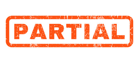 partial: Partial text rubber seal stamp watermark. Tag inside rounded rectangular shape with grunge design and unclean texture. Horizontal vector orange ink sticker on a white background.