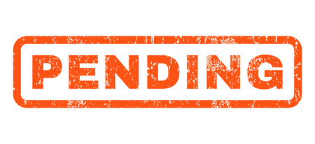 pending: Pending text rubber seal stamp watermark. Caption inside rounded rectangular shape with grunge design and dirty texture. Horizontal vector orange ink sticker on a white background. Illustration