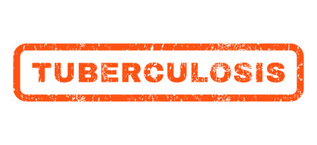 Tuberculosis text rubber seal stamp watermark. Caption inside rounded rectangular banner with grunge design and unclean texture. Horizontal vector orange ink sign on a white background.