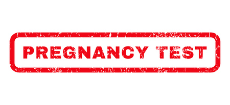 pregnancy test: Pregnancy Test text rubber seal stamp watermark. Caption inside rounded rectangular banner with grunge design and dust texture. Horizontal vector red ink sign on a white background.