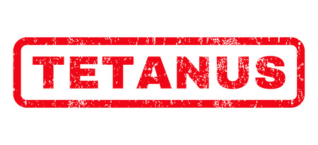 tetanus: Tetanus text rubber seal stamp watermark. Tag inside rounded rectangular shape with grunge design and scratched texture. Horizontal vector red ink sign on a white background.