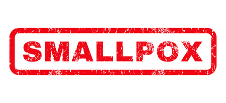 bio safety: Smallpox text rubber seal stamp watermark. Caption inside rounded rectangular shape with grunge design and dirty texture. Horizontal vector red ink sign on a white background.