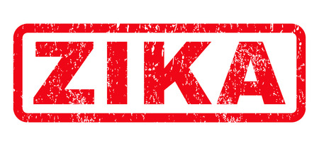 quarantine: Zika text rubber seal stamp watermark. Caption inside rounded rectangular shape with grunge design and dust texture. Horizontal vector red ink sign on a white background. Illustration