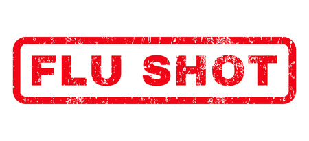 flu shot: Flu Shot text rubber seal stamp watermark. Tag inside rounded rectangular banner with grunge design and dust texture. Horizontal glyph red ink sign on a white background. Stock Photo