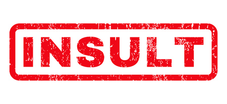 disordered: Insult text rubber seal stamp watermark. Caption inside rounded rectangular shape with grunge design and unclean texture. Horizontal glyph red ink sign on a white background. Stock Photo