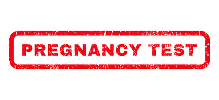 pregnancy test: Pregnancy Test text rubber seal stamp watermark. Caption inside rounded rectangular banner with grunge design and dirty texture. Horizontal glyph red ink sticker on a white background. Stock Photo