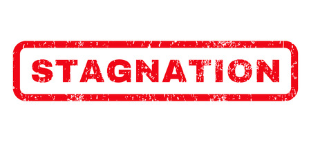 stasis: Stagnation text rubber seal stamp watermark. Tag inside rounded rectangular banner with grunge design and dust texture. Horizontal glyph red ink sticker on a white background. Stock Photo