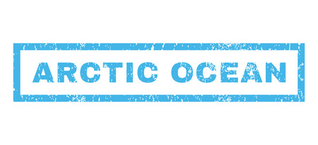 the arctic ocean: Arctic Ocean text rubber seal stamp watermark. Tag inside rectangular banner with grunge design and dirty texture. Horizontal vector blue ink emblem on a white background. Illustration