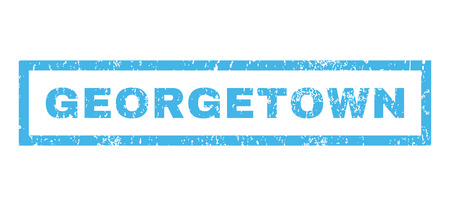 georgetown: Georgetown text rubber seal stamp watermark. Caption inside rectangular shape with grunge design and unclean texture. Horizontal vector blue ink sticker on a white background.