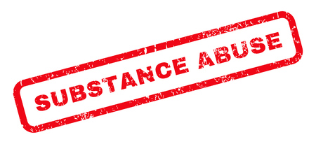 substance abuse: Substance Abuse text rubber seal stamp watermark. Caption inside rounded rectangular shape with grunge design and unclean texture. Slanted vector red ink emblem on a white background. Illustration