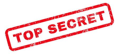 top secret: Top Secret text rubber seal stamp watermark. Caption inside rounded rectangular shape with grunge design and unclean texture. Slanted vector red ink sign on a white background.