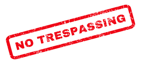 no trespassing: No Trespassing text rubber seal stamp watermark. Tag inside rounded rectangular banner with grunge design and unclean texture. Slanted glyph red ink sticker on a white background.