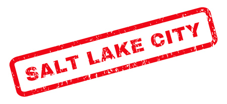 salt lake city: Salt Lake City text rubber seal stamp watermark. Caption inside rounded rectangular shape with grunge design and dust texture. Slanted glyph red ink sign on a white background.