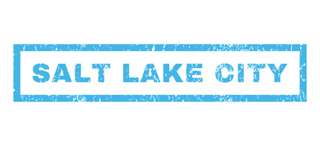 salt lake city: Salt Lake City text rubber seal stamp watermark. Caption inside rectangular banner with grunge design and unclean texture. Horizontal vector blue ink sticker on a white background.