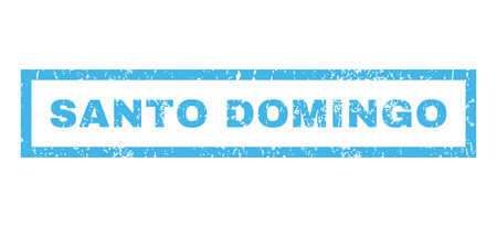 santo domingo: Santo Domingo text rubber seal stamp watermark. Caption inside rectangular banner with grunge design and dirty texture. Horizontal vector blue ink emblem on a white background. Illustration
