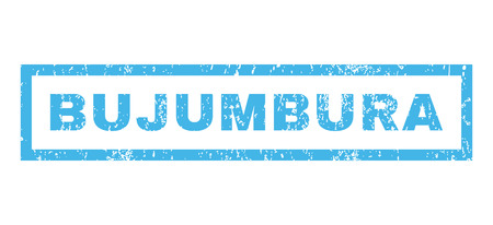 bujumbura: Bujumbura text rubber seal stamp watermark. Tag inside rectangular shape with grunge design and dirty texture. Horizontal glyph blue ink emblem on a white background.