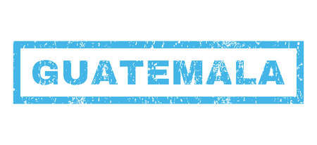 guatemalan: Guatemala text rubber seal stamp watermark. Tag inside rectangular shape with grunge design and unclean texture. Horizontal glyph blue ink emblem on a white background.