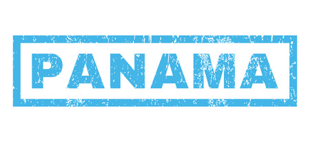 panamanian: Panama text rubber seal stamp watermark. Tag inside rectangular banner with grunge design and dust texture. Horizontal glyph blue ink sign on a white background.
