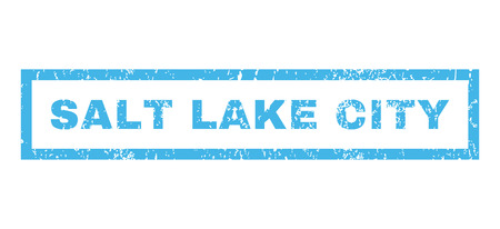 salt lake city: Salt Lake City text rubber seal stamp watermark. Caption inside rectangular shape with grunge design and scratched texture. Horizontal glyph blue ink sign on a white background.