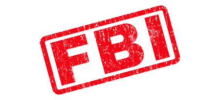 the fbi: FBI Text rubber seal stamp watermark. Caption inside rectangular banner with grunge design and dirty texture. Slanted glyph red ink sign on a white background.