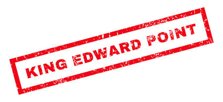 king edward: King Edward. text rubber seal stamp watermark. Tag inside rectangular banner with grunge design and dirty texture. Slanted vector red ink sign on a white background.