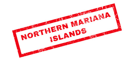 mariana: Northern Mariana Islands text rubber seal stamp watermark. Tag inside rectangular banner with grunge design and dirty texture. Slanted glyph red ink sticker on a white background.