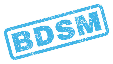 bdsm: Bdsm text rubber seal stamp watermark. Caption inside rectangular shape with grunge design and scratched texture. Inclined vector blue ink sign on a white background. Illustration