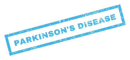 parkinson's disease: ParkinsonS Disease text rubber seal stamp watermark. Caption inside rectangular banner with grunge design and dust texture. Inclined vector blue ink sign on a white background.