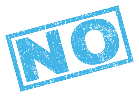 disagree: No text rubber seal stamp watermark. Caption inside rectangular banner with grunge design and scratched texture. Inclined glyph blue ink sign on a white background.