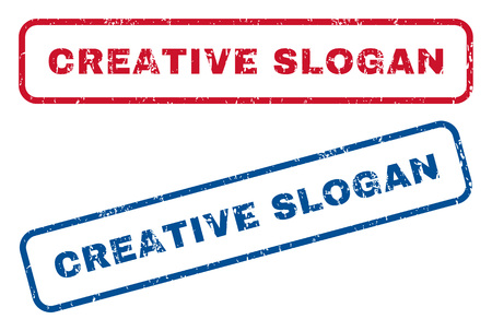 axiom: Creative Slogan text rubber seal stamp watermarks. Vector style is blue and red ink tag inside rounded rectangular shape. Grunge design and scratched texture. Blue and red signs.