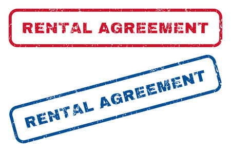 Rental Agreement Text Rubber Seal Stamp Watermarks Vector Style