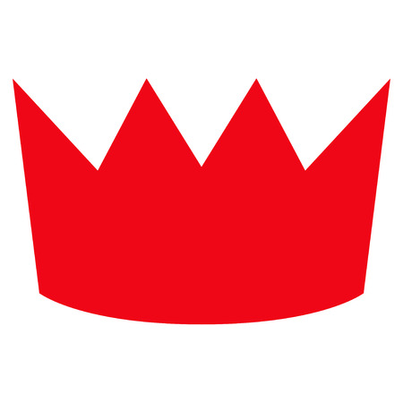 the aristocracy: Crown flat icon. Vector red symbol. Pictograph is isolated on a white background. Trendy flat style illustration for web site design, logo, ads, apps, user interface.