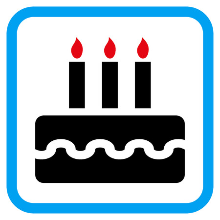 Birthday Cake Vector Icon Image Style Is A Flat Iconic Symbol