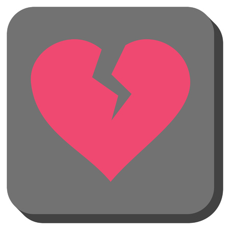 Heart Break Toolbar Button Vector Pictograph Style Is A Flat