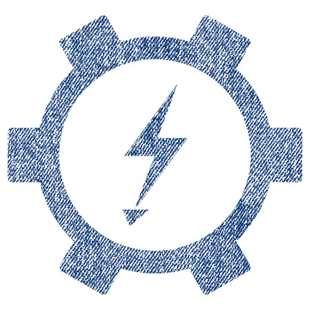 Electric Power Gear Vector Textured Icon For Overlay Watermark