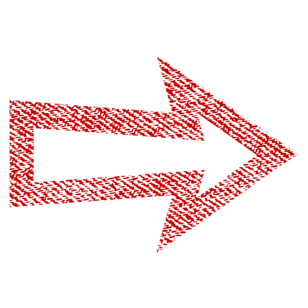redo: Arrow Right vector textured icon for overlay watermark stamps. Illustration