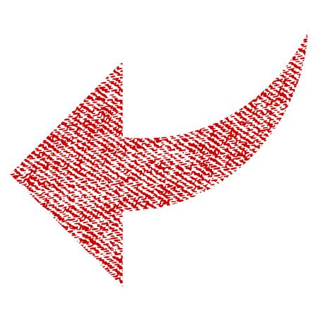 Undo vector textured icon for overlay watermark stamps. Иллюстрация