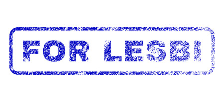 For Lesbi message unclean seal imprint for watermarks. Blue Raster. Imagens